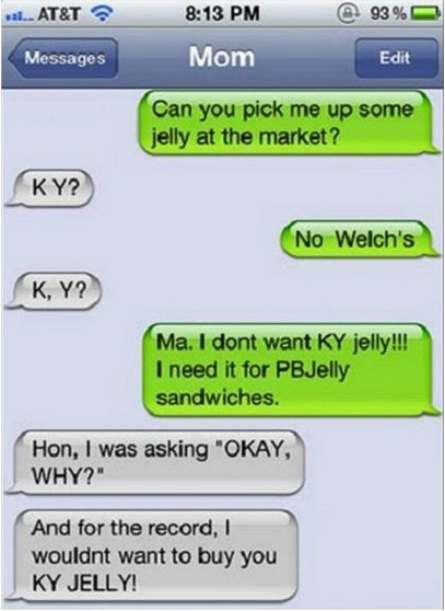 KY Jelly Funny Text