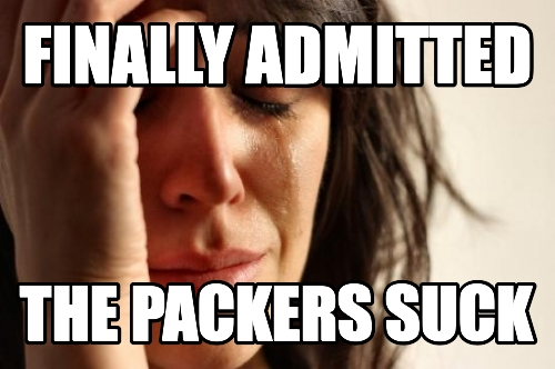finally admitted the packers suck