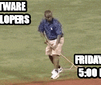 Software  Developers Friday at  5:00 PM