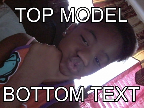 Top model Bottom Text